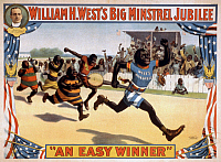 0108115 © Granger - Historical Picture ArchiveMINSTREL POSTER, c1899.   Lithograph poster, c1899, advertising William H. West's Big Minstrel Jubilee.