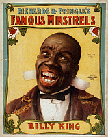 0108133 © Granger - Historical Picture ArchiveMINSTREL POSTER, c1907.   Lithograph poster, c1907, for Richards and Pringle's Famous Minstrels.