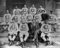 0621447 © Granger - Historical Picture ArchiveCLAFLIN UNIVERSITY, 1899.   The football team for Claflin University in Orangeburg, South Carolina. Photograph, 1899.