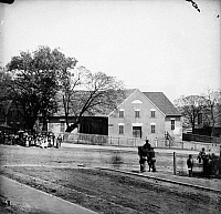 0032621 © Granger - Historical Picture ArchiveBLACK CHURCH, 1865.   First African Church, Broad Street, Richmond, Virginia. Photographed in 1865 following the Confederate evacuation of the city in April.