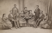 0186510 © Granger - Historical Picture ArchiveFISK JUBILEE SINGERS, c1880.   The Fisk Jubilee Singers from Fisk University, Tennessee. Photograph, c1880.