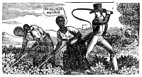 0005836 © Granger - Historical Picture ArchiveSLAVERY: PUNISHMENT, 1849.   A plantation overseer whipping slaves. Wood engraving from the 'Narrative of the Life and Adventures of Henry Bibb, an American Slave,' 1849.