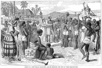 0048707 © Granger - Historical Picture ArchiveWEST INDIES: EMANCIPATION.   Slaves receive the news of their emancipation on a British West Indian plantation in 1833. Wood engraving, 19th century.
