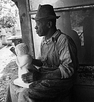 0171968 © Granger - Historical Picture ArchiveWILLIAM EDMONDSON   (c1882-1951). African American sculptor. Photograph, c1937.