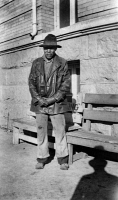 0621569 © Granger - Historical Picture ArchiveTEXAS: FORMER SLAVE, 1937.   William Adams, a former slave, in Fort Worth, Texas. Photograph, 3 July 1937.