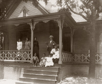 0622354 © Granger - Historical Picture ArchiveGEORGIA: HOME, c1900.   Home of an African American lawyer and his family in Atlanta, Georgia. Photograph by Thomas E. Askew, c1900.