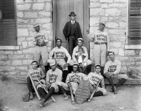 0622419 © Granger - Historical Picture ArchiveBASEBALL TEAM, c1900.   African American baseball players from Morris Brown College in Atlanta, Georgia. Photograph, c1900.