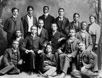0622431 © Granger - Historical Picture ArchiveROGER WILLIAMS UNIVERSITY.   Academic class of Roger Williams University in Nashville, Tennessee. Photograph, c1899.