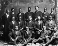 0622432 © Granger - Historical Picture ArchiveROGER WILLIAMS UNIVERSITY.   Ministers' class at Roger Williams University in Nashville, Tennessee. Photograph, c1899.