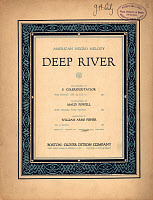 0167025 © Granger - Historical Picture ArchiveSHEET MUSIC: SPIRITUAL.   Sheet music cover for the African American spiritual 'Deep River,' arranged by William Arms Fisher, published in Boston, c1916.