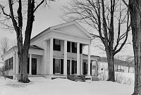 0168969 © Granger - Historical Picture ArchiveCYRUS GATES FARMSTEAD.   The home of cartographer and abolitionist Cyrus Gates, Maine, New York, built in 1851. Believed to have been a station on the Underground Railroad. Photograph, 1963.