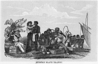0003985 © Granger - Historical Picture ArchiveAFRICA: SLAVE TRADE, 1858.   Wood engraving, American, 1858.