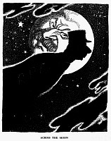 0115518 © Granger - Historical Picture ArchiveDE GAULLE AND STALIN, 1947.   'Across the Moon.' The shadow of General Charles de Gaulle passes in front of the moon, which bears the face of Soviet dictator Joseph Stalin. English cartoon by Leslie Illingworth, 1947, commenting on the founding of de Gaulle's Rassemblement du Peuple Français (RPF) to counter the influence of the French Communist Party. RESTR