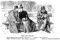0035093 © Granger - Historical Picture ArchiveDU MAURIER CARTOON, 1888.   'Fond and Foolish.' Cartoon, 1888, by George Louis Palmella Busson Du Maurier.