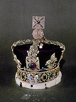 0021620 © Granger - Historical Picture ArchiveBRITISH CROWN JEWELS.   The Imperial State Crown, containing the large uncut ruby given to Edward the Black Prince in the 14th century. Set in the front circlet is the Cullinan II diamond, or Lesser Star of Africa.