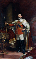 0020424 © Granger - Historical Picture ArchiveKING EDWARD VII OF ENGLAND   (1841-1910). King of England, 1901-1910. Oil on canvas, 1902, by Sir Luke Fildes.