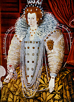 0023785 © Granger - Historical Picture ArchiveQUEEN ELIZABETH I.   (1533-1603). Queen of England, 1558-1603. Oil on panel by unknown artist.