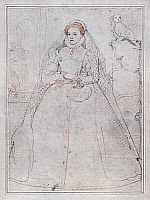 0047342 © Granger - Historical Picture ArchiveELIZABETH I (1533-1603).   Queen of England and Ireland, 1558-1603. Crayon drawing by Federigo Zuccaro, 1575.