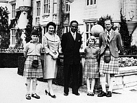 0126685 © Granger - Historical Picture ArchiveKWAME NKRUMAH (1909-1972).   Ghanaian Prime Minister, photographed with Queen Elizabeth II, Prince Charles, Princess Anne and Prince Philip, at Balmoral Castle in Scotland, 1959.