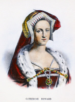 0085498 © Granger - Historical Picture ArchiveCATHERINE HOWARD   (1520?-1542). Fifth queen of King Henry VIII of England. Lithograph, French, 19th century.