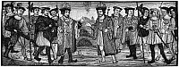 0068418 © Granger - Historical Picture ArchiveHENRY VIII & FRANCIS I.   The Alliance between Henry VIII of England and Francis I of France, August, 1527. Wood engraving after an illumination in the Chapter House Treaties, August 1527. A symbolic picture, as no personal meetings between the kings took place.