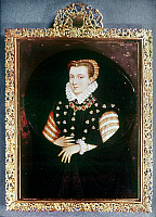 0029860 © Granger - Historical Picture ArchiveMARY, QUEEN OF SCOTS   (1542-87). Miniature by W. Bone.