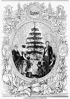 0088357 © Granger - Historical Picture ArchiveQUEEN VICTORIA, 1852.   Queen Victoria and Prince Albert celebrating Christmas with their children at Windsor Castle. Wood engraving, 1852.
