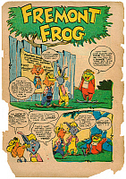 0172485 © Granger - Historical Picture ArchiveCOMIC STRIP: FREMONT FROG.   First page of the comic strip, 'Fremont Frog,' from the October 1948 issue of Giggle Comics.