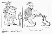 0092227 © Granger - Historical Picture ArchiveCONGRESS CARTOON, 1916.   The U.S. Congress demanding and receiving the respect due it from the public. American cartoon, 1916, by A.B. Walker.