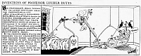 0001605 © Granger - Historical Picture ArchiveRUBE GOLDBERG CARTOON.   'Inventions of Professor Lucifer Butts (anti-floor walking paraphernalia).' Cartoon, 1932, by Reuben Lucius ('Rube') Goldberg.