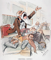 0007450 © Granger - Historical Picture ArchiveSENATE CARTOON,FREE SILVER.   'Senatorial Courtesy.' U.S. Senator making an impassioned and ignored plea for Free Silver one month after repeal of the Sherman Silver Purchase Act. American cartoon by Louis Dalrymple, 1893.