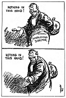 0016098 © Granger - Historical Picture ArchiveANTI-TRUST CARTOON, 1914.   Daniel R. Fitzpatrick's comment on the Clayton Antitrust Act, an amendment to the Sherman Antitrust Act, which prohibited interlocking directorates.