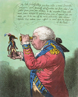 0024009 © Granger - Historical Picture ArchiveBROBDINGNAG & GULLIVER.   'The King of Brobdingnag and Gulliver.' Satirical etching, 1803, by James Gillray, showing George III with Napoleon.