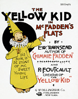 0062121 © Granger - Historical Picture ArchiveYELLOW JOURNALISM, c1900.   Book cover featuring Richard F. Outcault's 'Yellow Kid,' c1900.