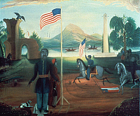 0020098 © Granger - Historical Picture ArchiveALLEGORY OF FREEDOM, c1863.   With Martin Delany. Oil, c1863, by an unknown artist.