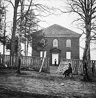 0090492 © Granger - Historical Picture ArchiveBRADY: FALLS CHURCH, 1862.   Falls Church, Virginia, photographed by Mathew Brady during the American Civil War.