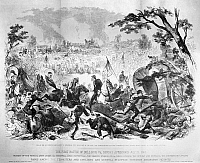 0002858 © Granger - Historical Picture ArchiveCIVIL WAR: BULL RUN, 1861.   The First Battle of Bull Run, 21 July 1861. Wood engraving, American, 1861.