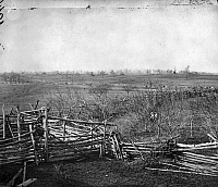 0036876 © Granger - Historical Picture ArchiveCIVIL WAR: BULL RUN, 1861.   The battlefield at Bull Run, Virginia, photographed after the Confederate Army's evacuation of Centreville and Manassas in March 1862.