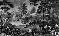 0172050 © Granger - Historical Picture ArchiveCIVIL WAR: BULL RUN, 1861.   The First Battle of Bull Run, 21 July 1861. Line engraving, 19th century.