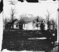 0371201 © Granger - Historical Picture ArchiveCIVIL WAR: BULL RUN, 1861.   'Mrs. Spinner's house,' near Centreville, Virginia. Photographed in March 1862 by George N. Barnard following the evacuation of Centreville and Manassas by Confederate troops after the First Battle of Bull Run.