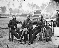 0409213 © Granger - Historical Picture ArchiveCIVIL WAR: SURGEONS, 1864.   Three surgeons of 1st Division, 9th Corps in Petersburg, Virginia. Photograph, 1864.