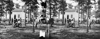 0409265 © Granger - Historical Picture ArchiveCIVIL WAR: VIRGINIA, 1862.   A view of General Quarles' house, where many soldiers were buried, in the vicinity of Fair Oaks, Virginia. Photograph by George N. Barnard, June 1862.