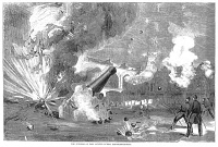 0002863 © Granger - Historical Picture ArchiveCIVIL WAR: FORT SUMTER 1861.   The Confederate bombardment of Fort Sumter, Charleston Harbor, South Carolina, 12-13 April 1861. Wood engraving, American, 1861.