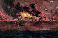0011697 © Granger - Historical Picture ArchiveFORT SUMTER, 1861.   Bombardment of Fort Sumter, Charleston Harbor, South Carolina, during the American Civil War. Undated lithograph by Currier and Ives.