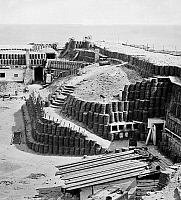 0107275 © Granger - Historical Picture ArchiveCIVIL WAR: FORT SUMTER.   Interior of Fort Sumter with gabions, Charleston, South Carolina. Photographed in 1865.