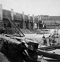 0163197 © Granger - Historical Picture ArchiveCIVIL WAR: FORT SUMTER.   Interior of Fort Sumter in Charleston Harbor, South Carolina. Photograph by Mathew Brady, c1862.