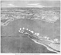 0265194 © Granger - Historical Picture ArchiveFORT PICKENS, 1861.   'Birds-eye view of Fort Pickens during the bombardment.' Engraving, 1861.