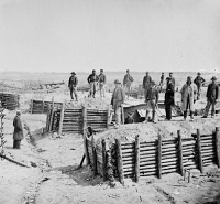 0409117 © Granger - Historical Picture ArchiveCIVIL WAR: FORT MAHONE.   Breastworks of the Confederate Fort Mahone (