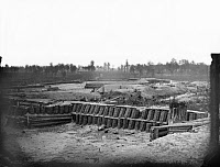 0409225 © Granger - Historical Picture ArchiveCIVIL WAR: FORT SEDGWICK.   View from the Union Army's Fort Sedgwick looking South in Petersburg, Virginia. Photograph, 1865.