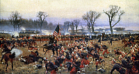 0023050 © Granger - Historical Picture ArchiveBATTLE OF FREDERICKSBURG.   Civil War Battle of Fredericksburg, Virginia, 13 December 1862. Oil on canvas by Carl Rochling.